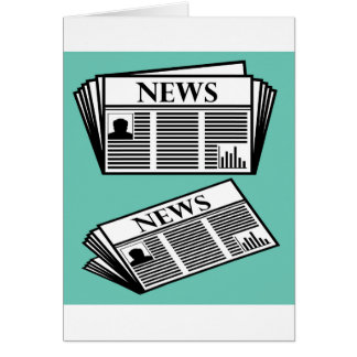 Newspaper Vector Card