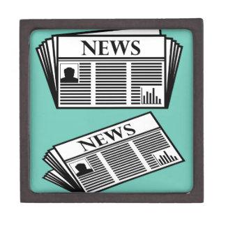 Newspaper Vector Jewelry Box
