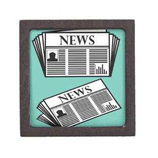 Newspaper Vector Keepsake Box