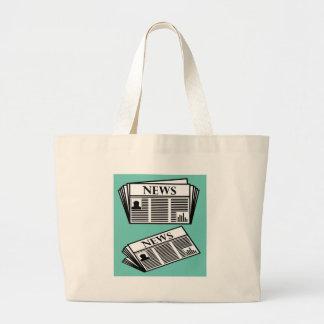 Newspaper Vector Large Tote Bag