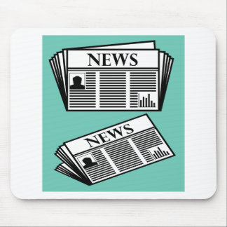 Newspaper Vector Mouse Pad