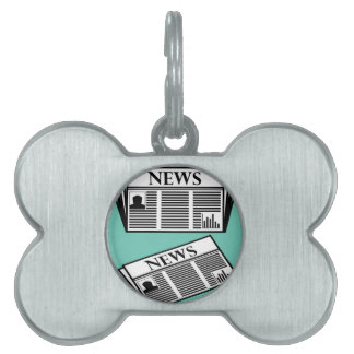Newspaper Vector Pet ID Tag