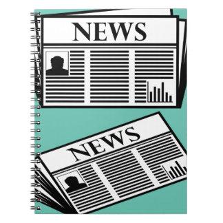 Newspaper Vector Spiral Notebook