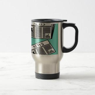 Newspaper Vector Travel Mug