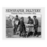 Newspaper vendor during the Civil War Postcards