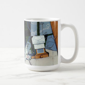 newspaper with coffee mill (detail) by Juan Gris Coffee Mugs