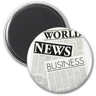Newspapers 2 Inch Round Magnet