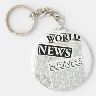 Newspapers Basic Round Button Keychain