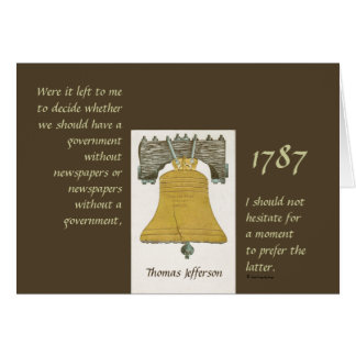 Newspapers & Government Thomas Jefferson Greeting Cards