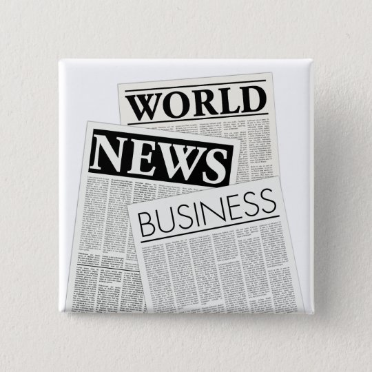 Newspapers Pinback Button