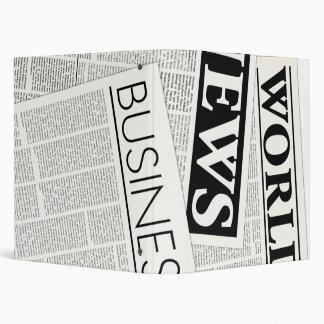 Newspapers Vinyl Binder