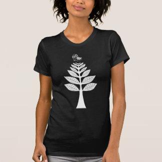 Newsprint Folk Art Owl and Tree T-Shirt