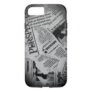 Newsprint iPhone Case