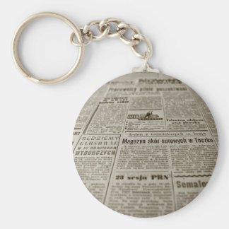Newsprint Keychain