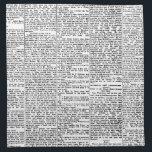 "Newsprint Napkin<br><div class=""desc"">newsprint black and white vintage art</div>"