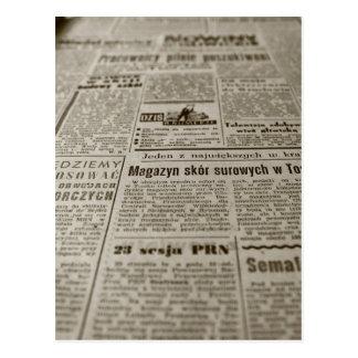 Newsprint Postcard