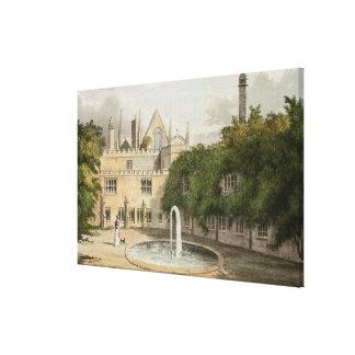 Newstead Abbey, from R. Ackermann's (1764-1834) 'R Canvas Print
