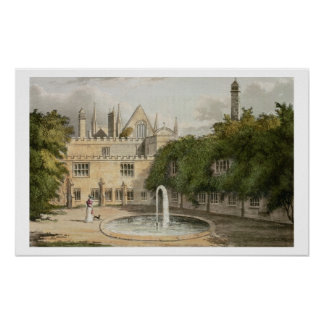 Newstead Abbey, from R. Ackermann's (1764-1834) 'R Poster