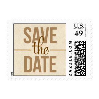 Newsworthy Save the Date Postage Stamp