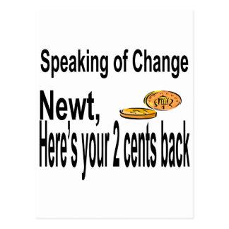 Newt2Cents_Tee14x12 Tarjetas Postales