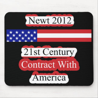 Newt 2012 - 21st Century Contract With America Mouse Pad