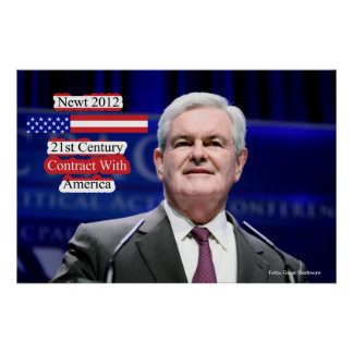 Newt 2012 - 21st Century Contract With America Poster