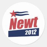 Newt 2012 banner classic round sticker