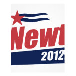 Newt 2012 banner customized letterhead