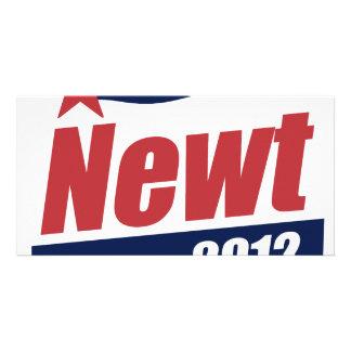 Newt 2012 banner customized photo card