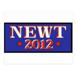 Newt 2012 Blue Post Card