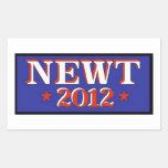 Newt 2012 Blue Rectangular Sticker