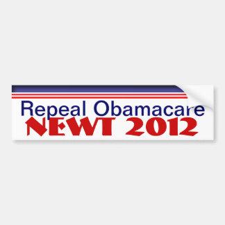Newt  2012 car bumper sticker