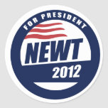Newt 2012 classic round sticker