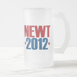 NEWT 2012 FROSTED GLASS BEER MUG