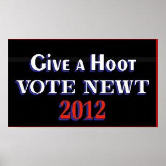 Newt 2012 GAH del voto Impresiones