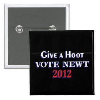 Newt 2012 GAH del voto Pin Cuadrado