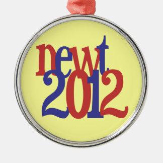 newt 2012 metal ornament