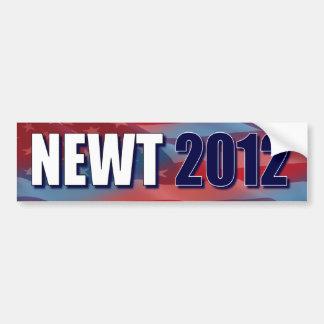 Newt 2012 - Newt Gingrich Etiqueta De Parachoque