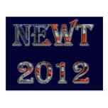 Newt 2012 - Newt Gingrich para el presidente Tarjetas Postales