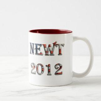Newt 2012 - Newt Gingrich para el presidente Taza De Dos Tonos