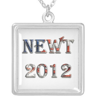 Newt 2012 with American flag letters Necklace
