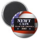 NEWT CAÍN - equipo para América 2012 Imán Redondo 5 Cm