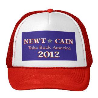 Newt Cain - Take Back America Trucker Hat