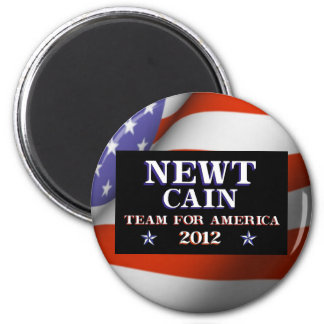 NEWT CAIN - Team for America 2012 Magnet