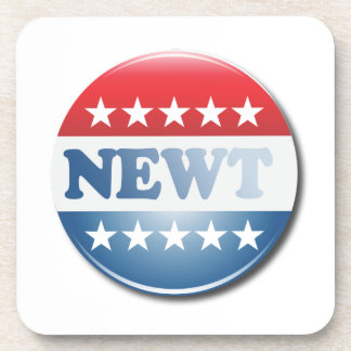 NEWT CAMPAIGN BUTTON DRINK COASTERS