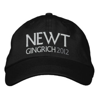 NEWT for President 2012 Embroidered Baseball Caps