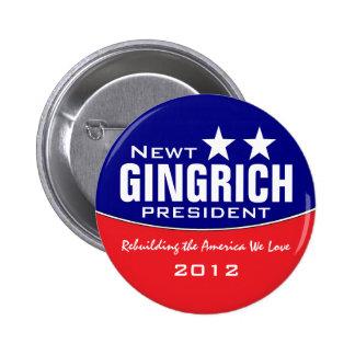 Newt Gingich Pinback Button