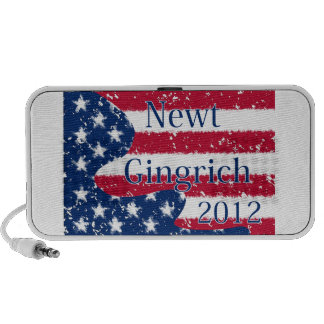 Newt Gingrich 2012 Altered US Flag Mp3 Speakers