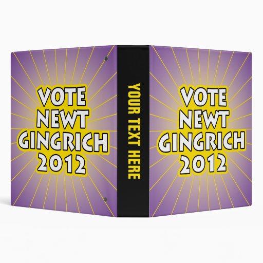 Newt Gingrich 2012 Binders