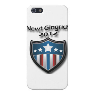 Newt Gingrich 2012 black Cases For iPhone 5
